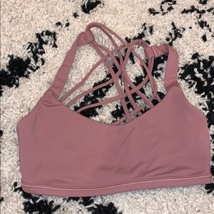 lululemon yoga sports bra in maude pink color